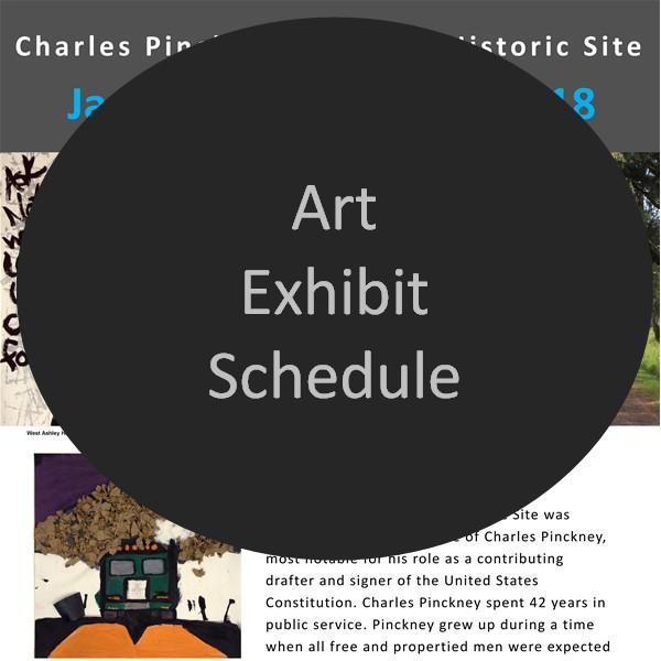 Schedule of Art Exhibits